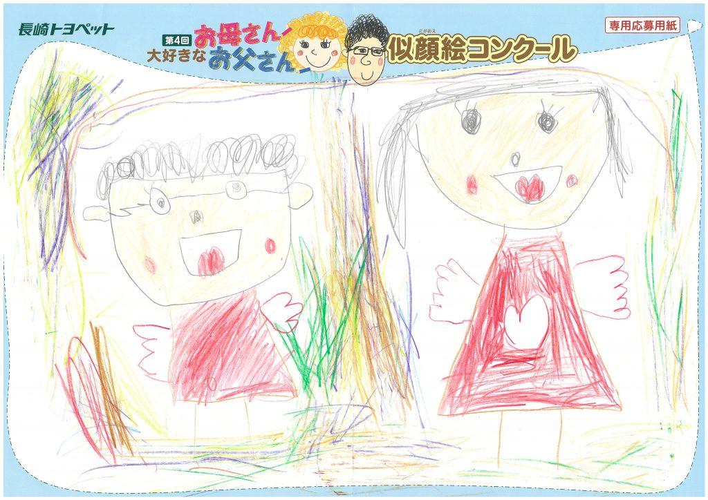 N.Tちゃん(5才)の作品