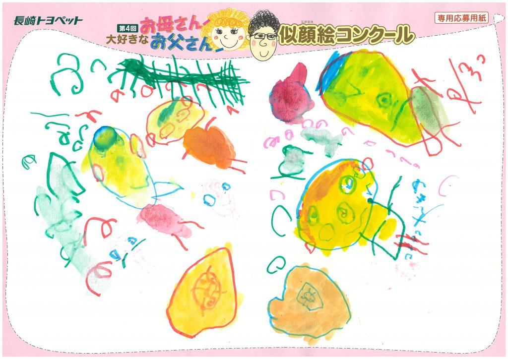 T.Iちゃん(3才)の作品