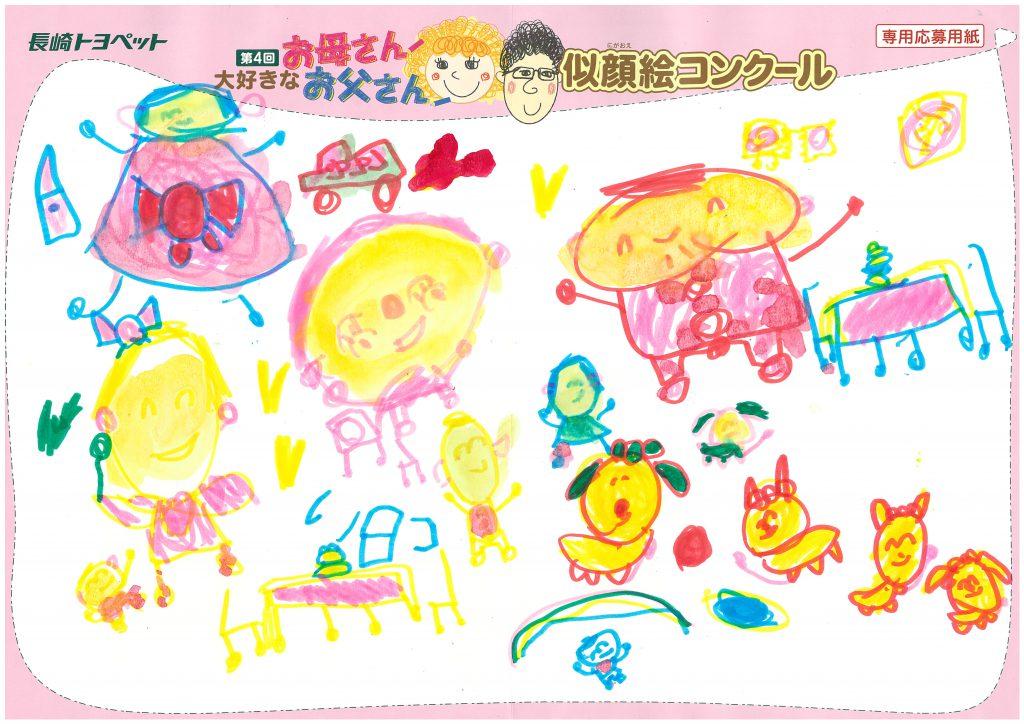 A.Uちゃん(4才)の作品