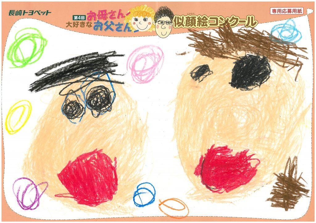 N.Iちゃん(3才)の作品