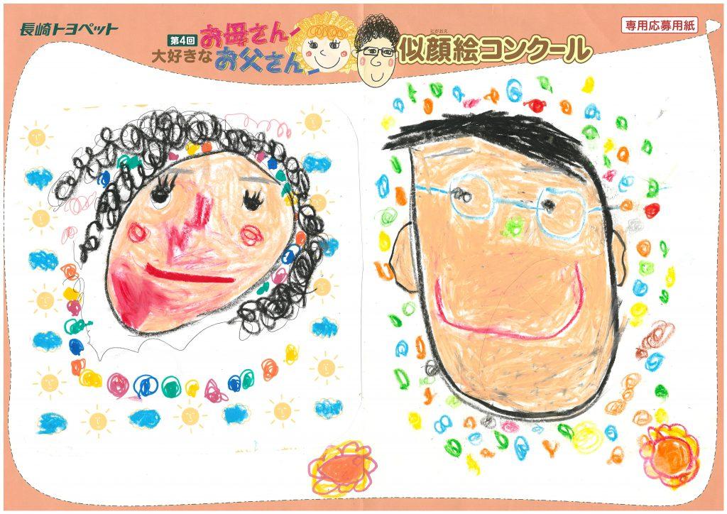 H.Oちゃん(4才)の作品