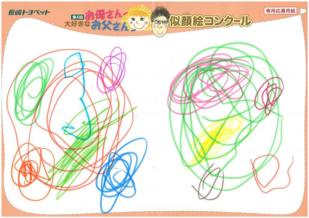 N.Sちゃん(2才)の作品