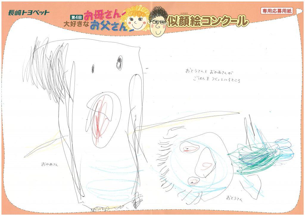 R.Hちゃん(3才)の作品