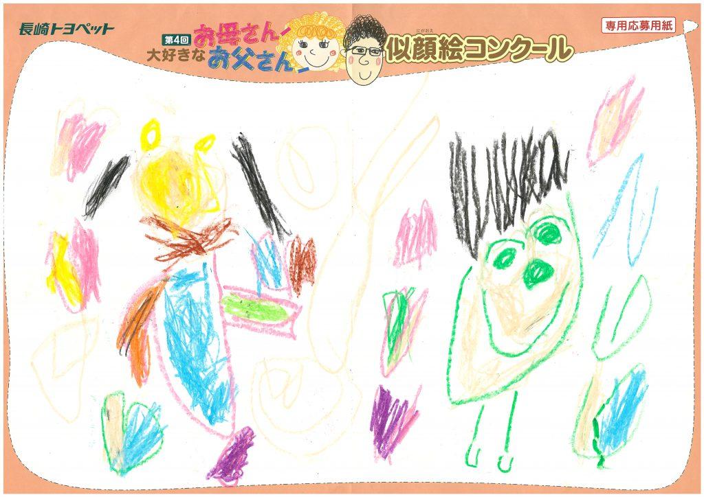 S.Sちゃん(4才)の作品