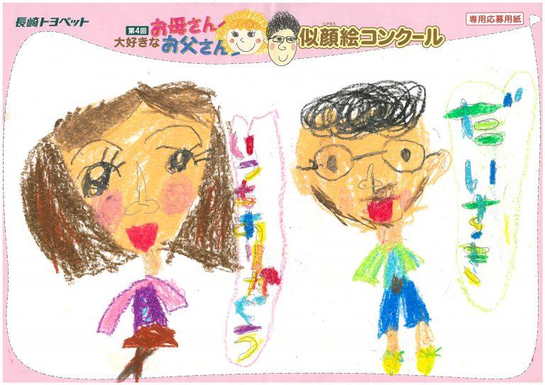 N.Mちゃん(5才)の作品