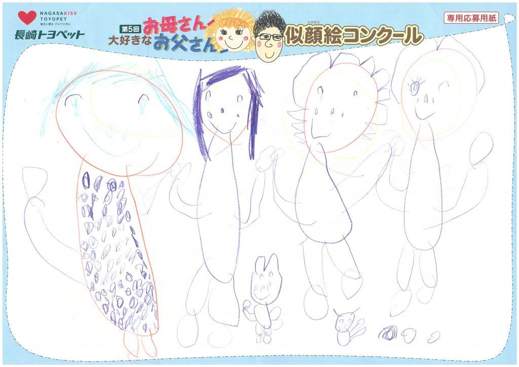 N.Mちゃん(4才)の作品