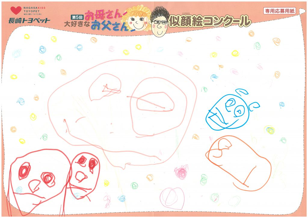 K.Mちゃん(3才)の作品
