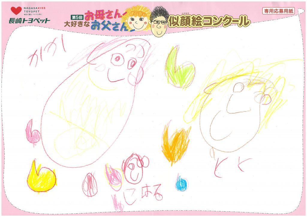 K.Nちゃん(4才)の作品