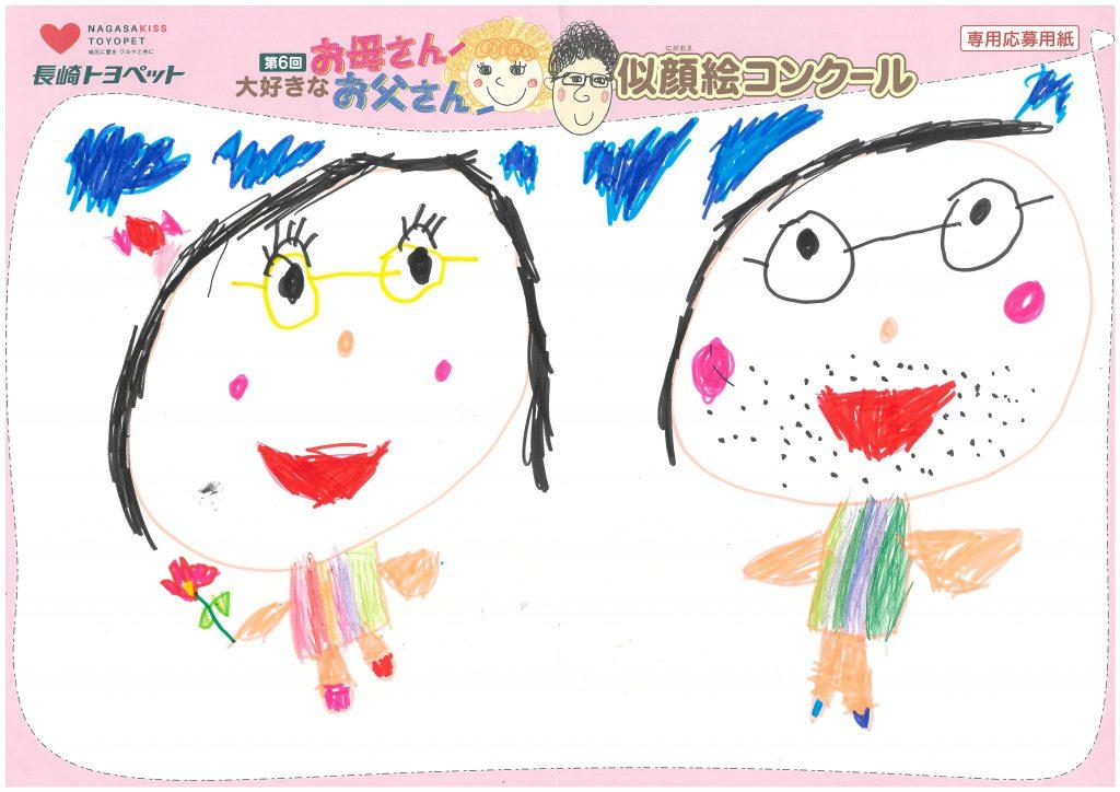 H.Iちゃん(5才)の作品