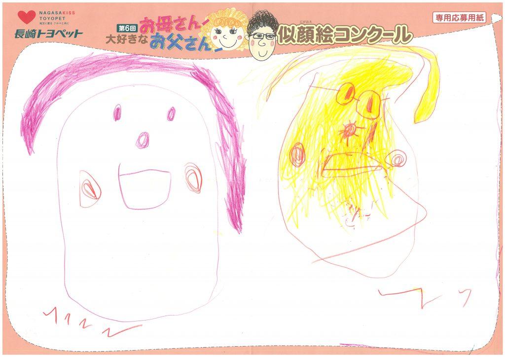 H.Iちゃん(3才)の作品