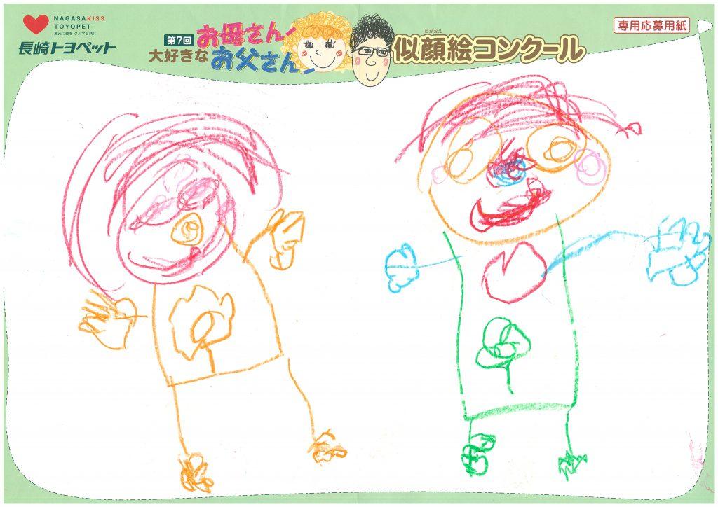 N.Nちゃん(4才)の作品