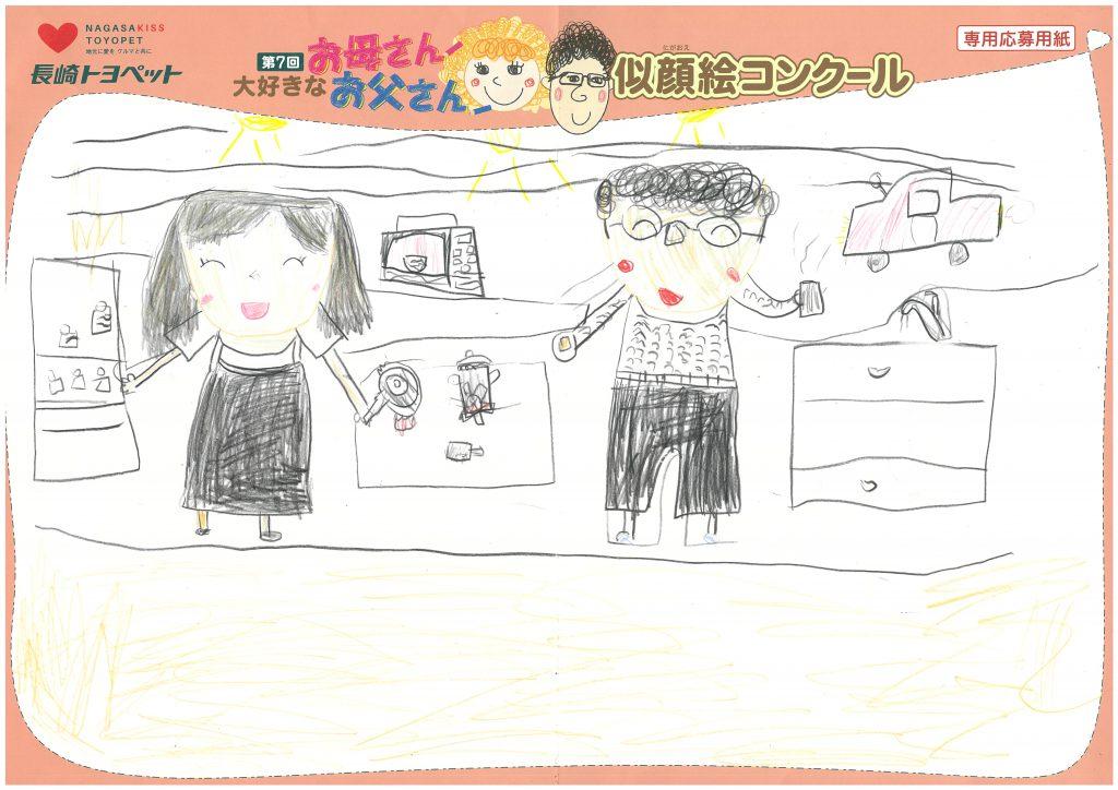W.Mちゃん(6才)の作品